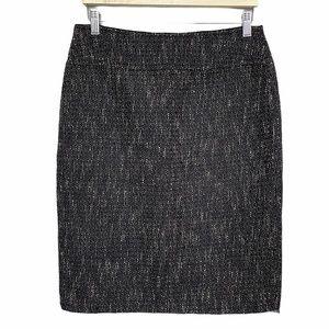 Elie Tahari Felicia Wool Blend Tweed Pencil Skirt